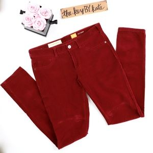Anthropologie Pilcro Red Corduroy Serif Fit Pants